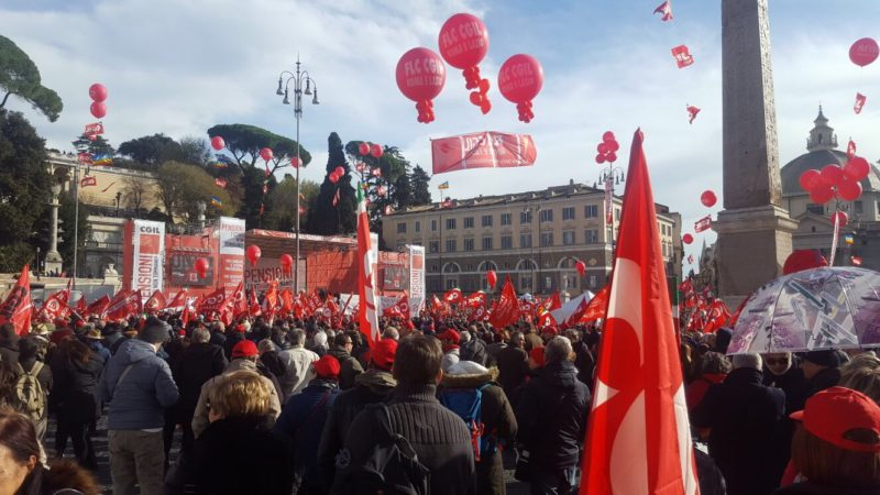 foto manifestazione cgil roma