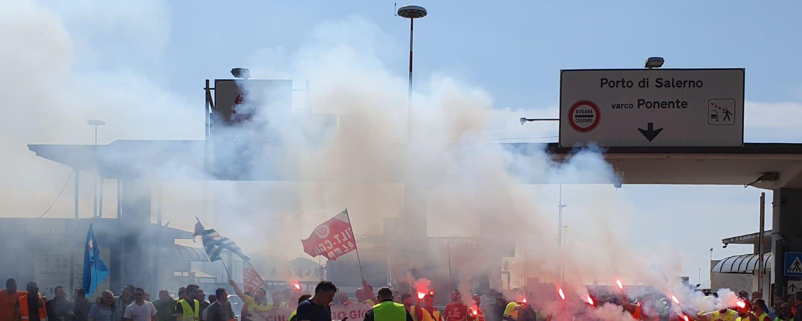 sciopero porti salerno