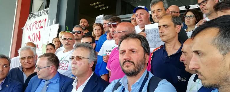 foto conferenza stampa sciopero metalmeccanici napoli