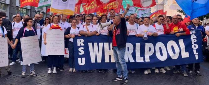 foto corteo whirlpool roma