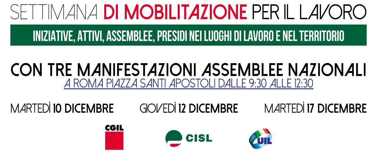 foto mobilitazione cgil cisl uil web