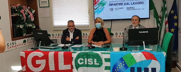 foto conferenza stampa ripartire dal lavoro